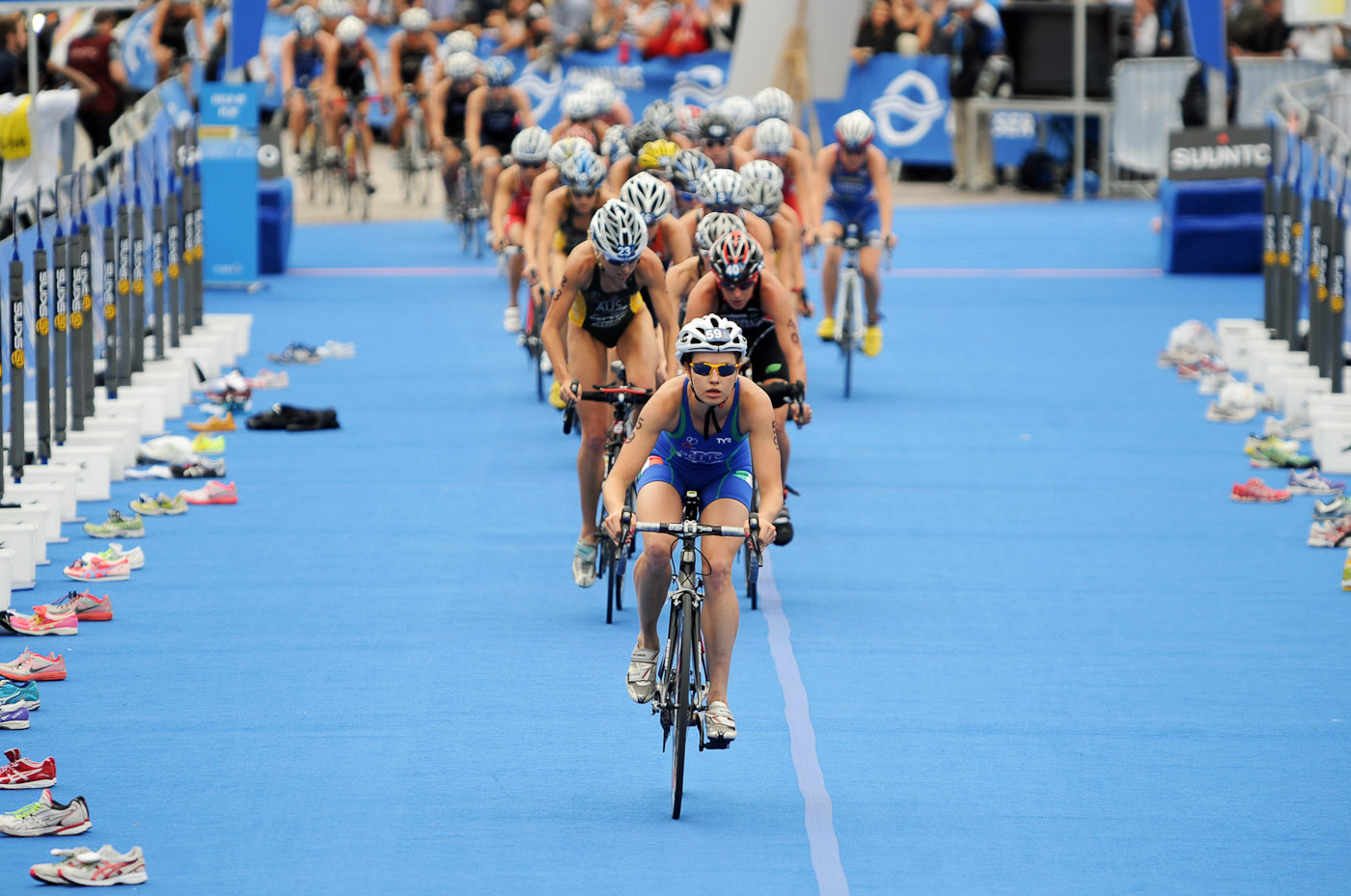 Foto-ID 1502197 ITU World Triathlon Hamburg Radfahren