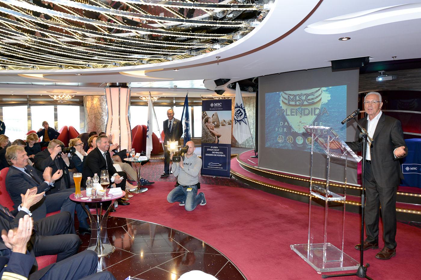 Franz Beckenbauer, Pressekonferenz MSC Splendida