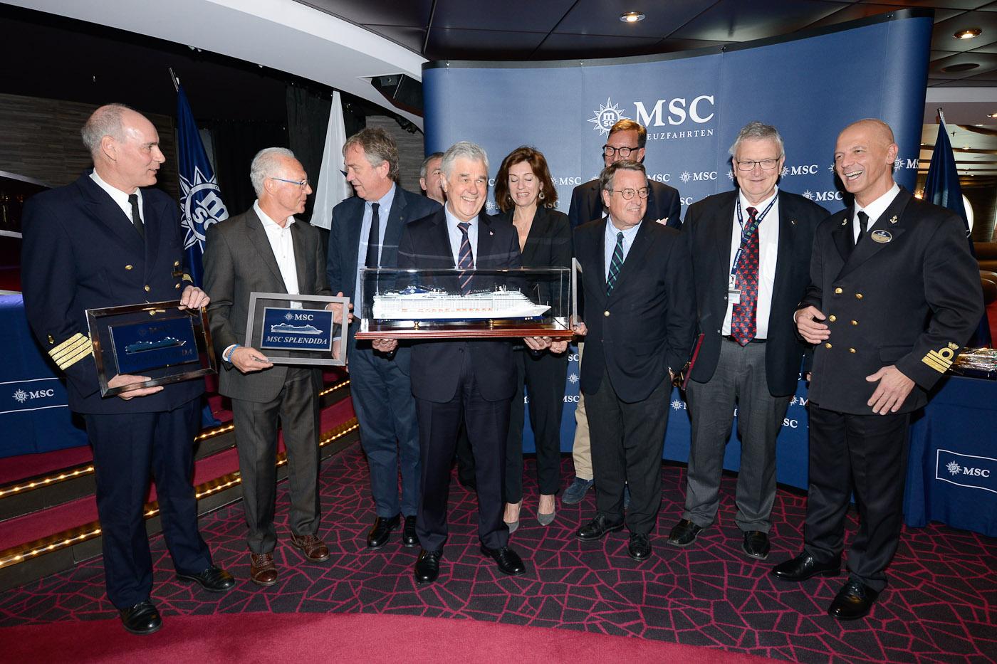 Kreuzfahrtschiff MSC Splendida Pressekonferenz Hamburg