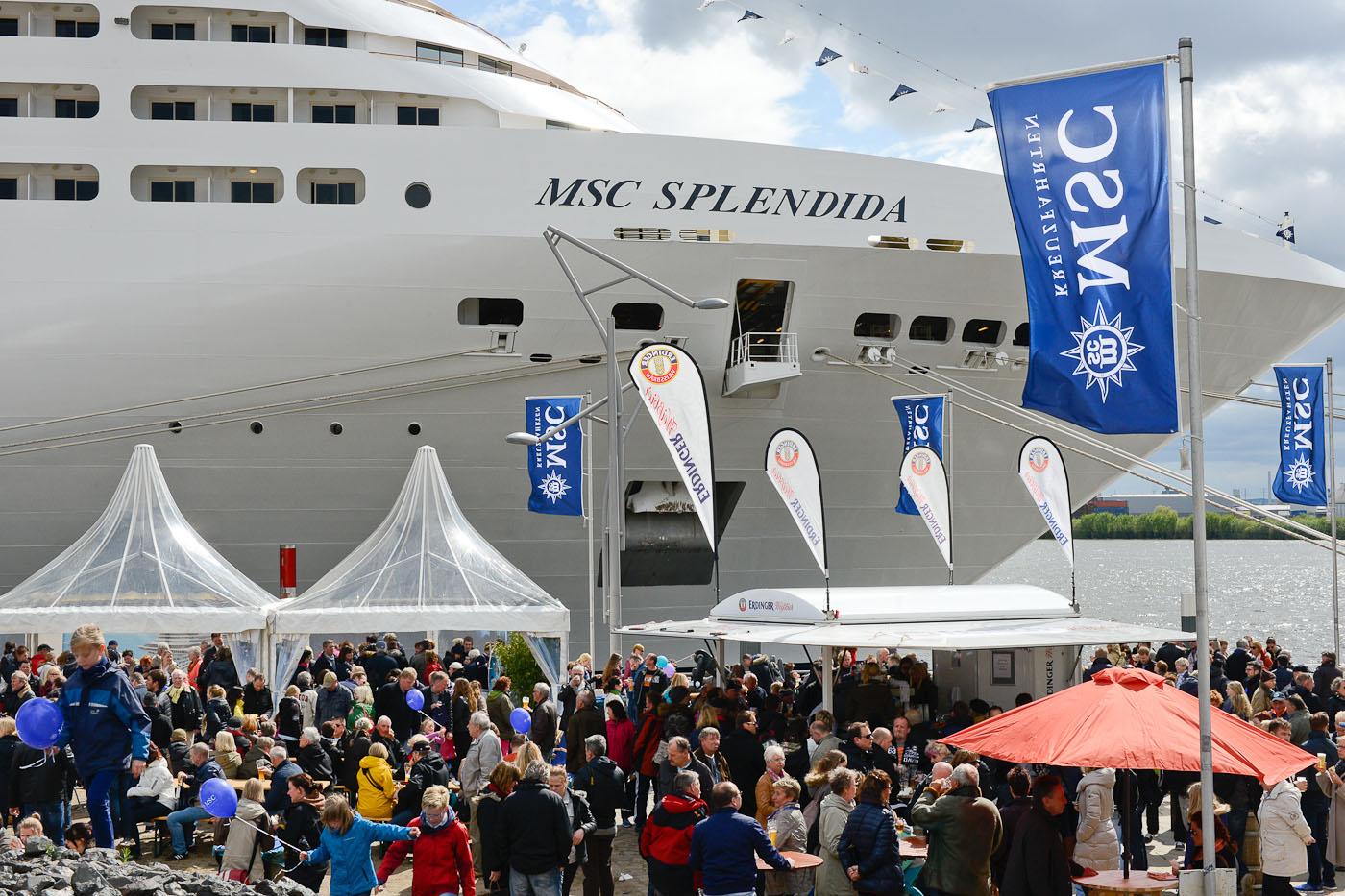 MSC Splendida Erstanlauf Hamburg
