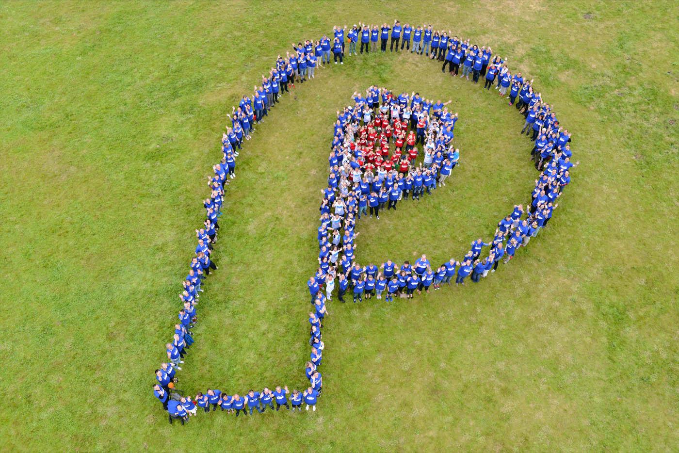 Foto Luftaufnahme Gruppenfoto