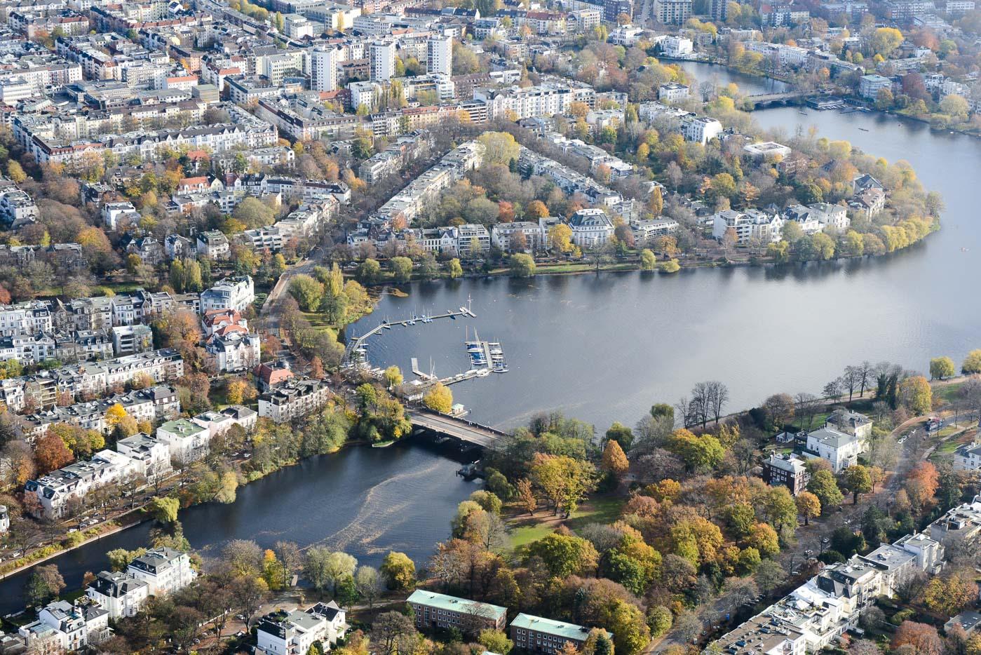Foto ID 151201 Luftaufnahme Hamburg Alster