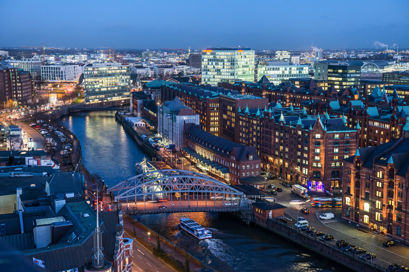 Foto ID 16011501 Nachtaufnahme, Speicherstadt, HafenCity